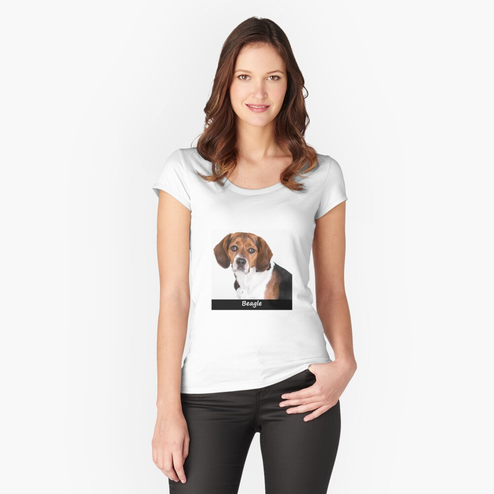 Beagle Fitted Scoop T-Shirt