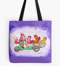The Fox and Hens Tote Bag