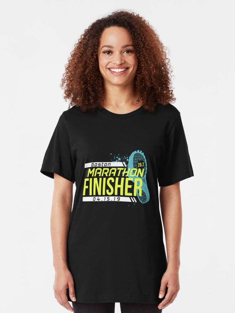Alternate view of Boston Marathon 2019 Slim Fit T-Shirt