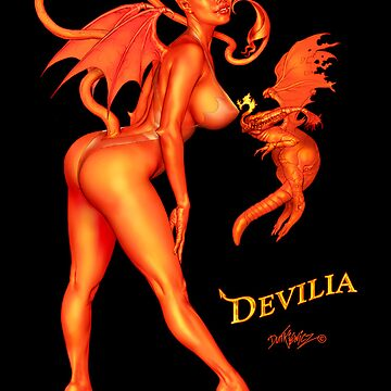 Devilia - Manic Attraction... In Costume, On Black... by mdutkiewicz