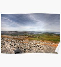 Corker Hill View in  The Burren Poster