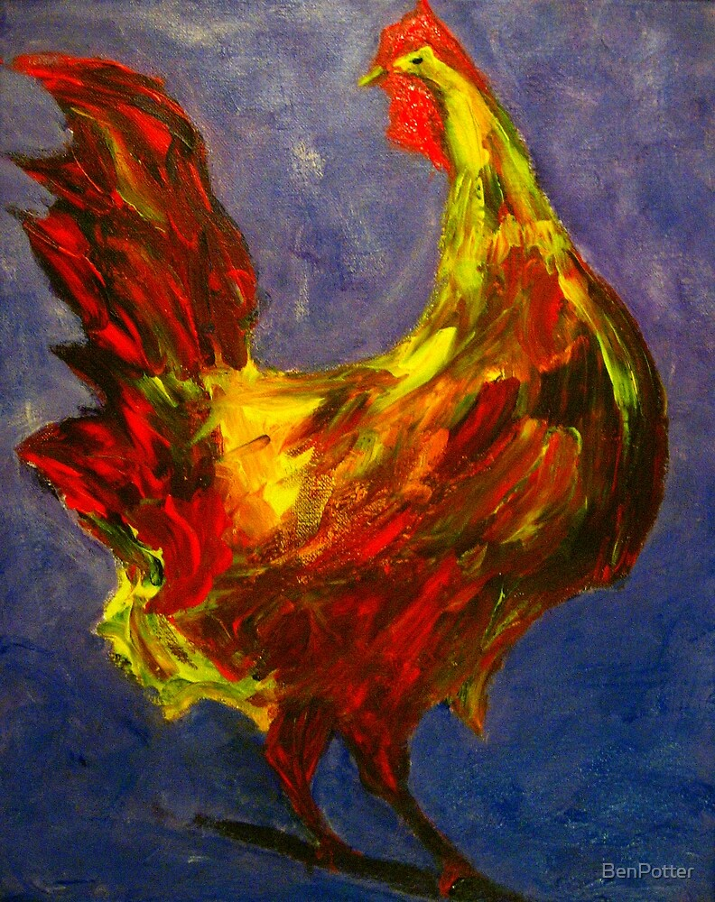 Rooster Study by BenPotter