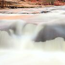 Slide Rock Waterfall Panorama-4 by Zane Paxton