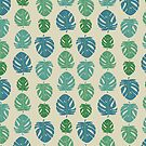 Monstera leaves in color scale by illuminostudio