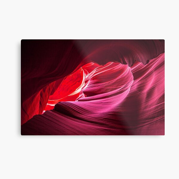 Purple Wave Metal Print