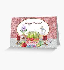 Happy Norooz Haft Sin Greeting Card