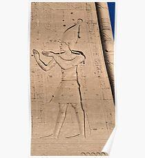 Hieroglyphs at Edfu Temple 3 Poster