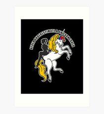 Einhorn Lover Unicorn Kunstdruck