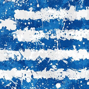 Greece Flag - Messy Paint Grunge by GrizzlyGaz