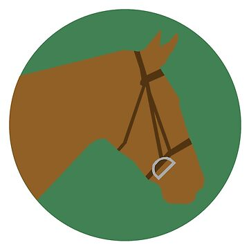 Minimalist Horse → Brown/Green  by e-q-u-i-t-a-t-e