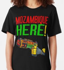 MOZAMBIQUE HERE! Slim Fit T-Shirt