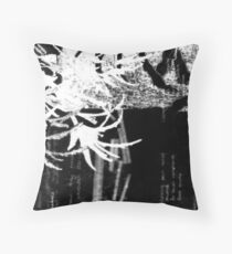 layered cliche verre Throw Pillow