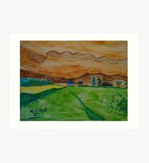 Landscape in watercolor Art Print