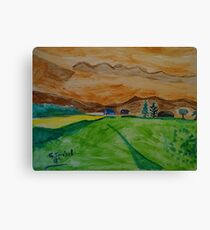 Landscape in watercolor Canvas Print