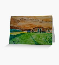Landscape in watercolor Greeting Card