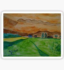 Landscape in watercolor Sticker