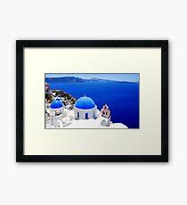 Santorini's Magnificent View Framed Print