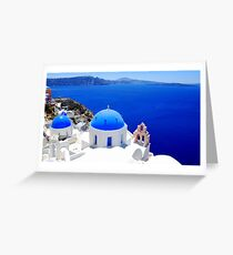 Santorini's Magnificent View Greeting Card