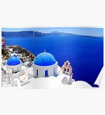 Santorini's Magnificent View Poster