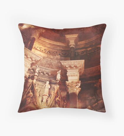 Past Imperfect - Cathedral Split, Croatia Throw Pillow