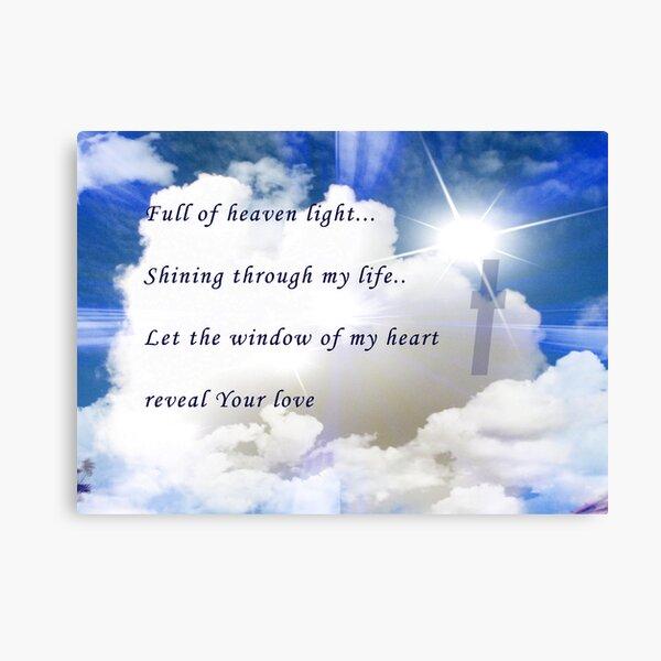 Full Of Heaven's Light Canvas Print