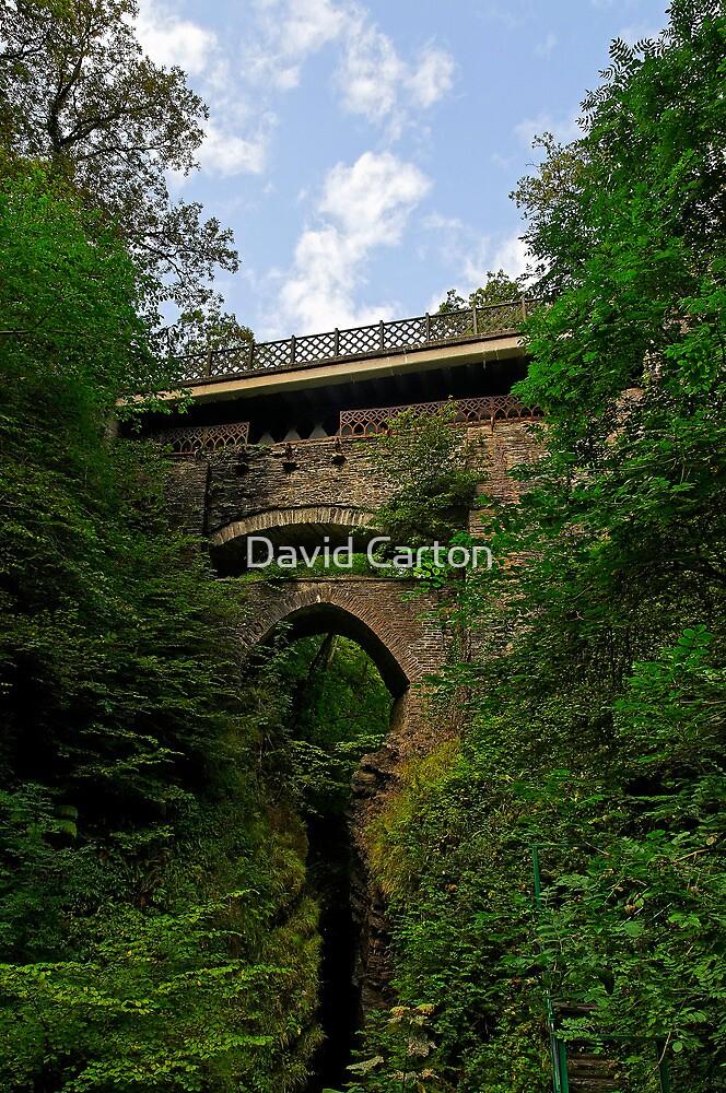 The three bridges at Devil's Bridge, Pontarfynach, Wales, UK by David Carton