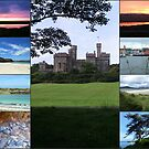 Hebridean Collage, die Lews-Schloss kennzeichnet von BlueMoonRose