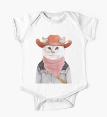 Rodeo Cat Baby Body Kurzarm