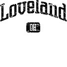 Loveland Ohio OH Vintage Style Faded Tee from Hometown Tees von HometownTees