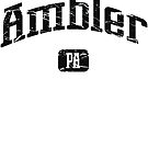 Ambler Pennsylvania PA Vintage Style Faded Tee from Hometown Tees von HometownTees