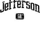 Jefferson Georgia GA Vintage Style Faded Tee from Hometown Tees von HometownTees
