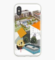 Town Centre Planning with Trees and Pedestrians iPhone Case