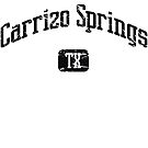 Carrizo Springs Texas TX Vintage Style Faded Tee from Hometown Tees von HometownTees