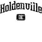 Holdenville Oklahoma OK Vintage Style Faded Tee from Hometown Tees von HometownTees