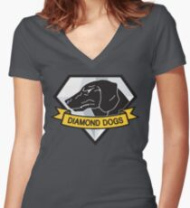 Diamond Dogs (MGSV) Women's Fitted V-Neck T-Shirt