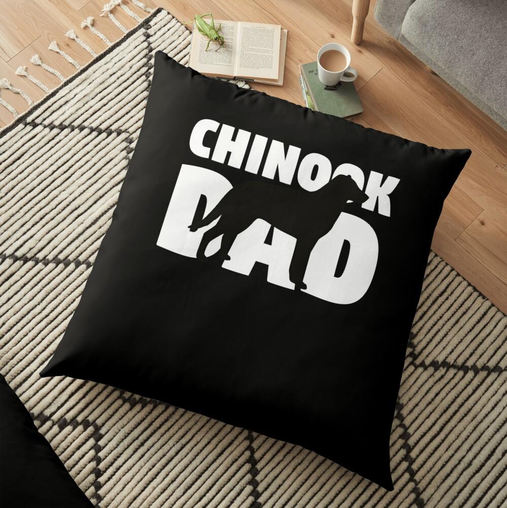 Chinook Dad T-Shirt Chinook Gift Father Dog Dad Tee Cojines de suelo