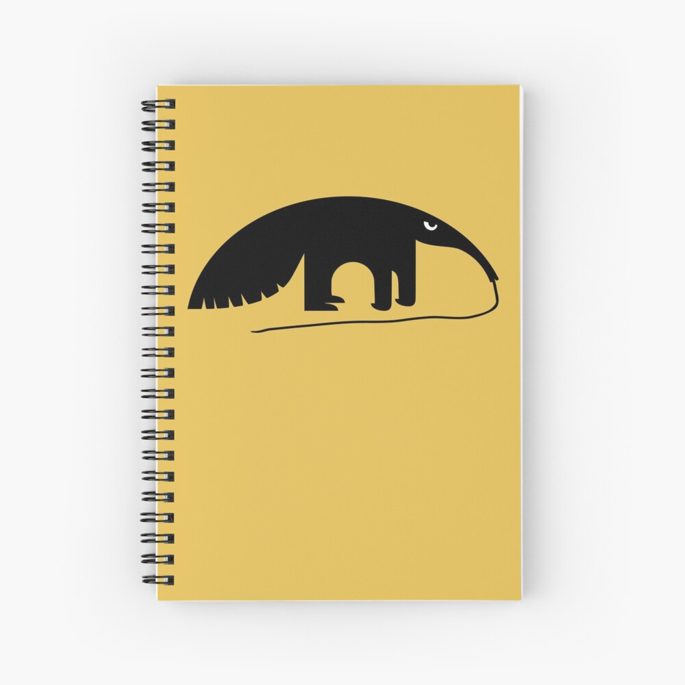 Angry Animals - Anteater Spiral Notebook