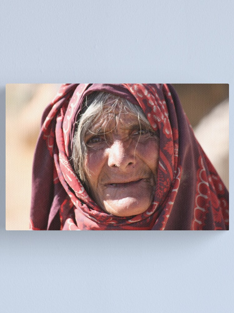 Alternate view of Old Woman (afghanistan) Canvas Print