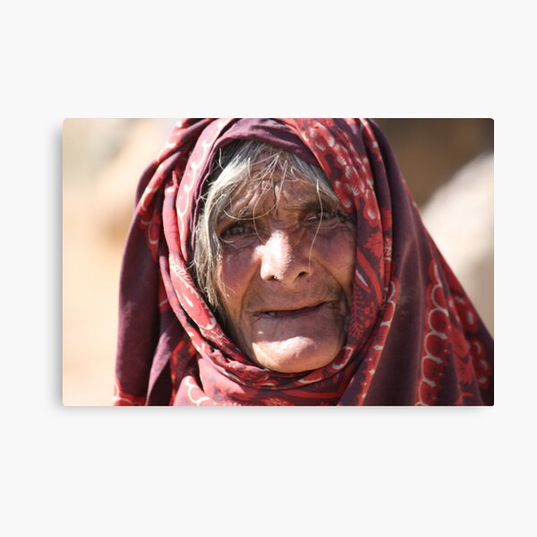 Old Woman (afghanistan) Canvas Print