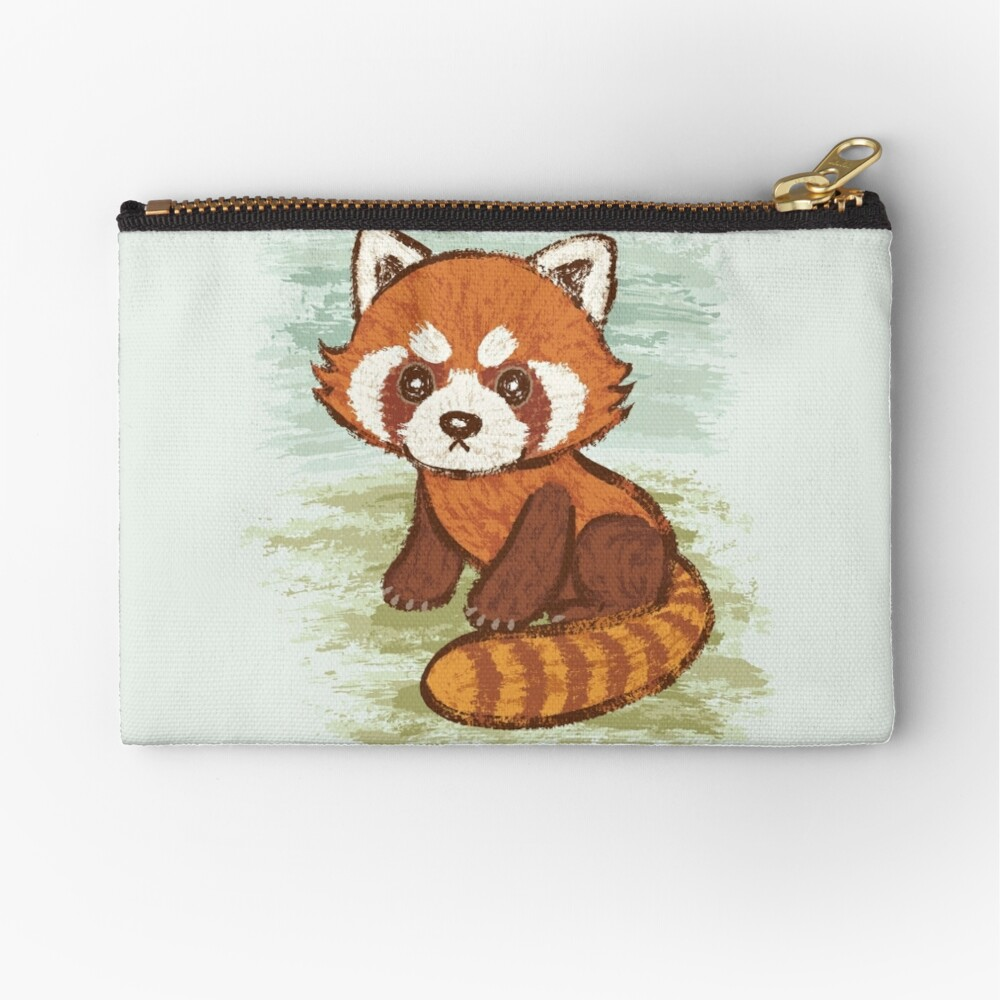 Red Panda Zipper Pouch