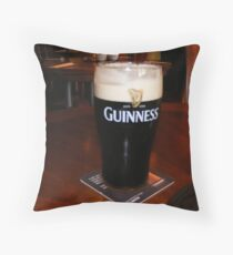 GLASS OF GUINESS Throw Pillow