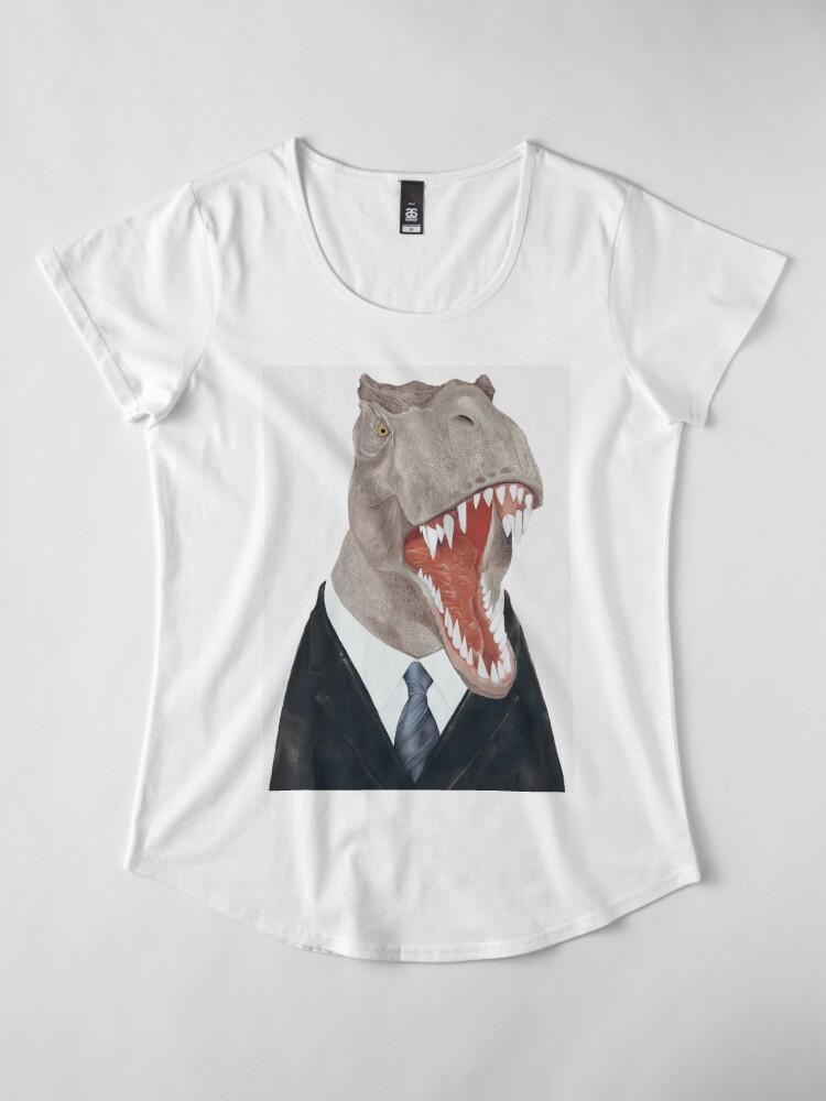 Alternative Ansicht von T-Rex Premium Rundhals-Shirt