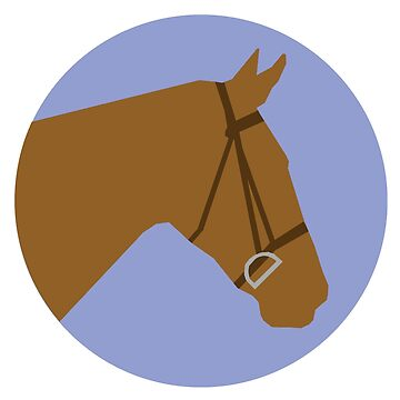 Minimalist Horse → Brown/Lavender  by e-q-u-i-t-a-t-e