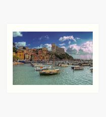 Lerici - The Bay and the Castle Art Print