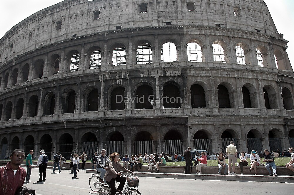 Tourists at the Colosseum, Rome, Italy by David Carton