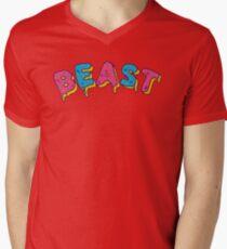 Camiseta de cuello en V MrBeast Frosted Beast Logo