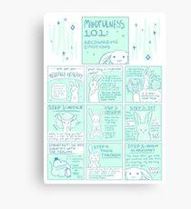 Lienzo Consigámosle mentalmente saludable: Mindfulness 101 Bunny Comic