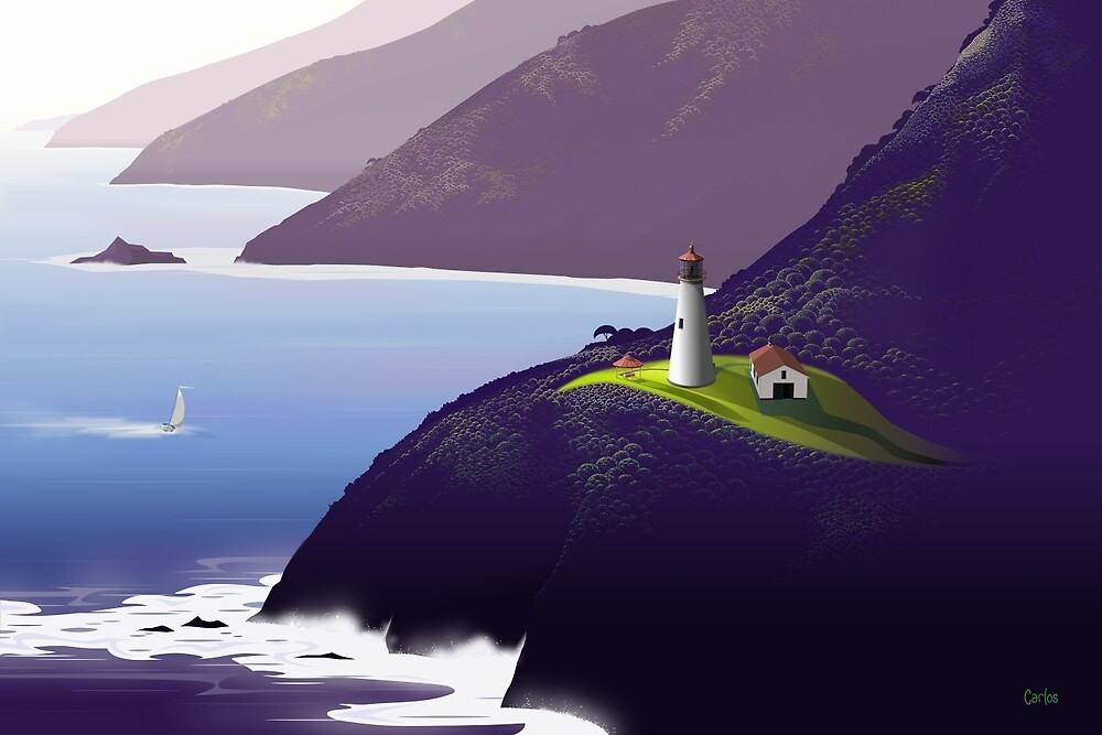 Lighthouse by Tom Carlos