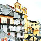 Buildings and church by Giuseppe Cocco