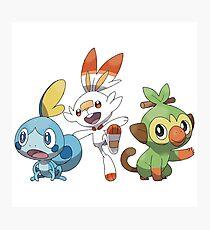 Lámina fotográfica Pokémon épée, Pokémon Bouclier arrancadores versión amarilla